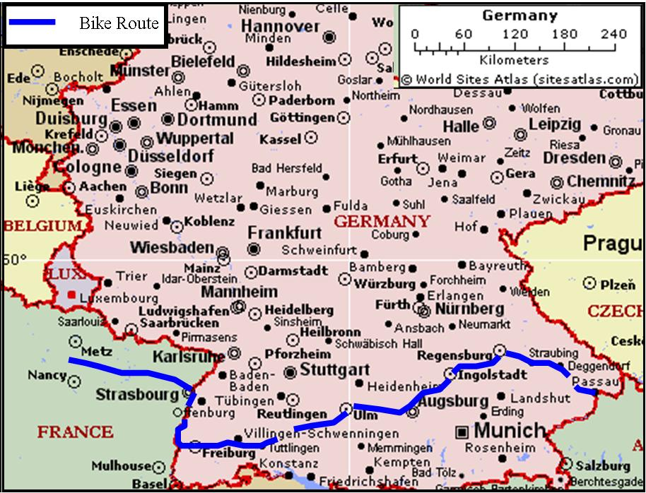 Breisach Germany Map.European Tour 2006 Iv Germany France
